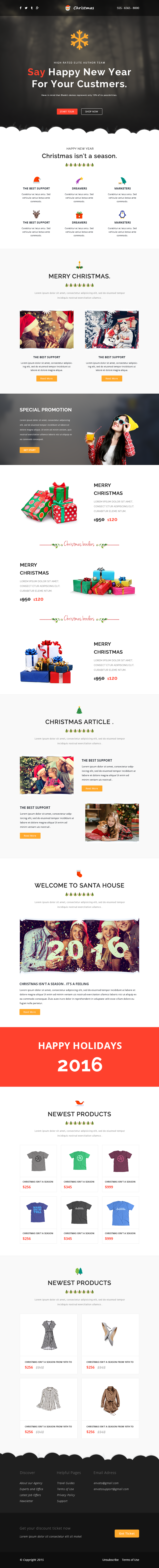 Christmas Responsive Email Template Online Builder By Castellab