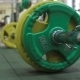 Closeup Barbell Plates On The Floor - VideoHive Item for Sale