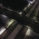 Aerial View Transport Interchange At Night - VideoHive Item for Sale