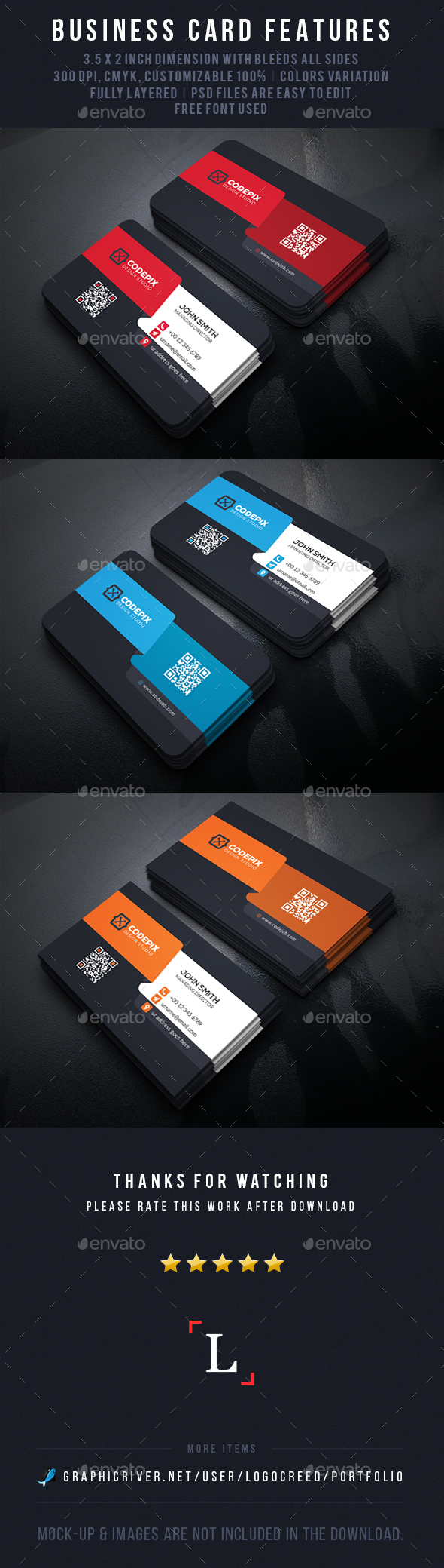 Shape Business Card - Business Cards Print Templates