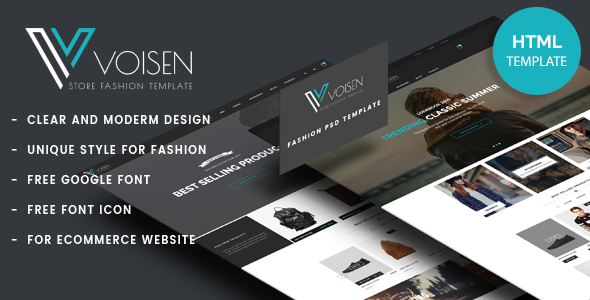 Voisen - Responsive eCommerce Fashion Template
