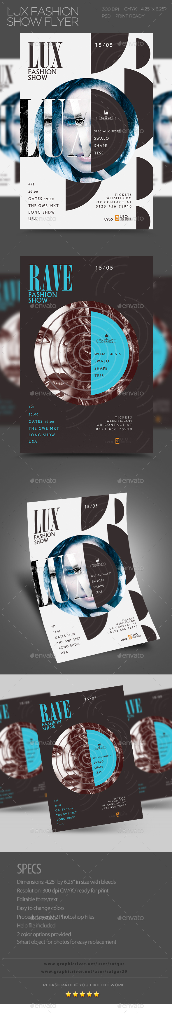 Lux Fashion Show Flyer - Clubs & Parties Events