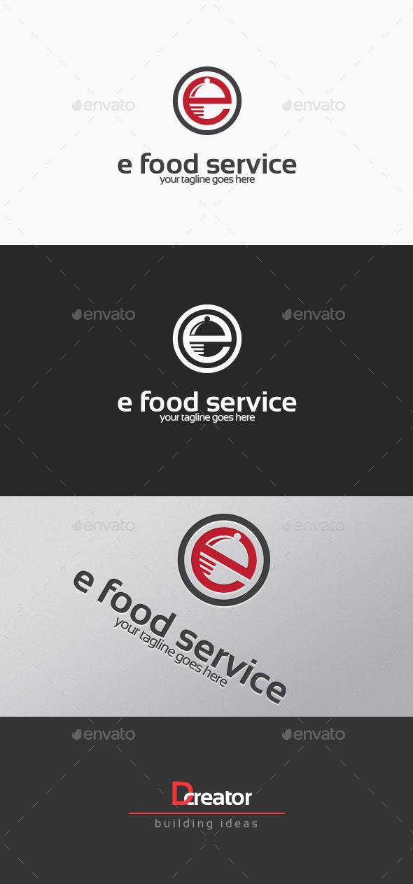 Letter E Food Service Logo - Food Logo Templates