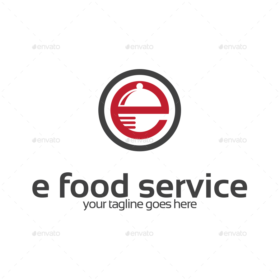 letter e food service logo by stocklogos