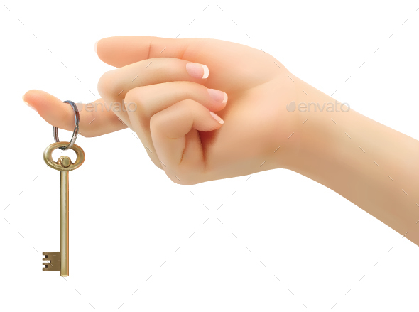 Hand Holding Key - Concepts Business