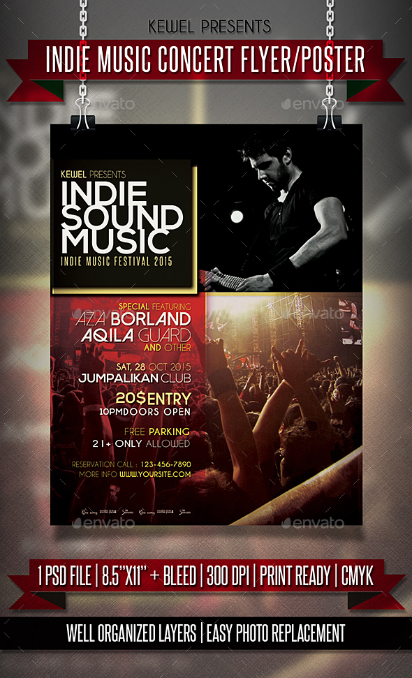 Indie Music Concert Flyer / Template - Events Flyers