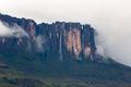 Waterfalls and clouds at Kukenan tepui or Mount Roraima. Venezue - PhotoDune Item for Sale