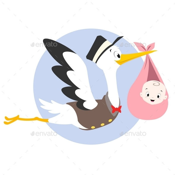 Stork Baby - Animals Characters