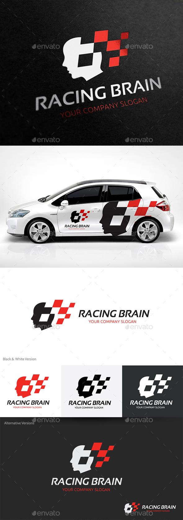 Racing Brain  - Humans Logo Templates