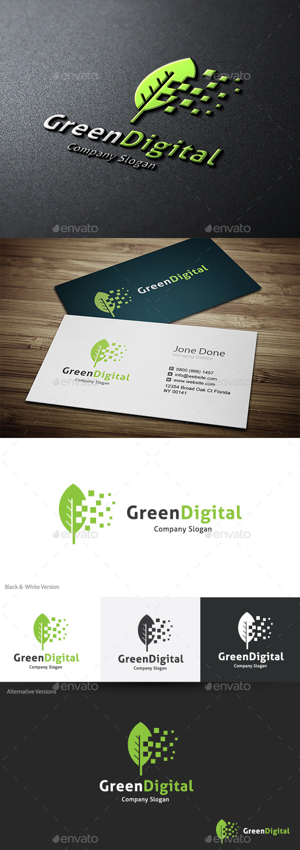 Green Digital - Nature Logo Templates