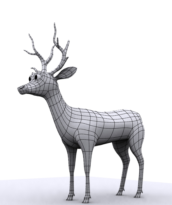 Deer 3d Model - 3DOcean Item for Sale
