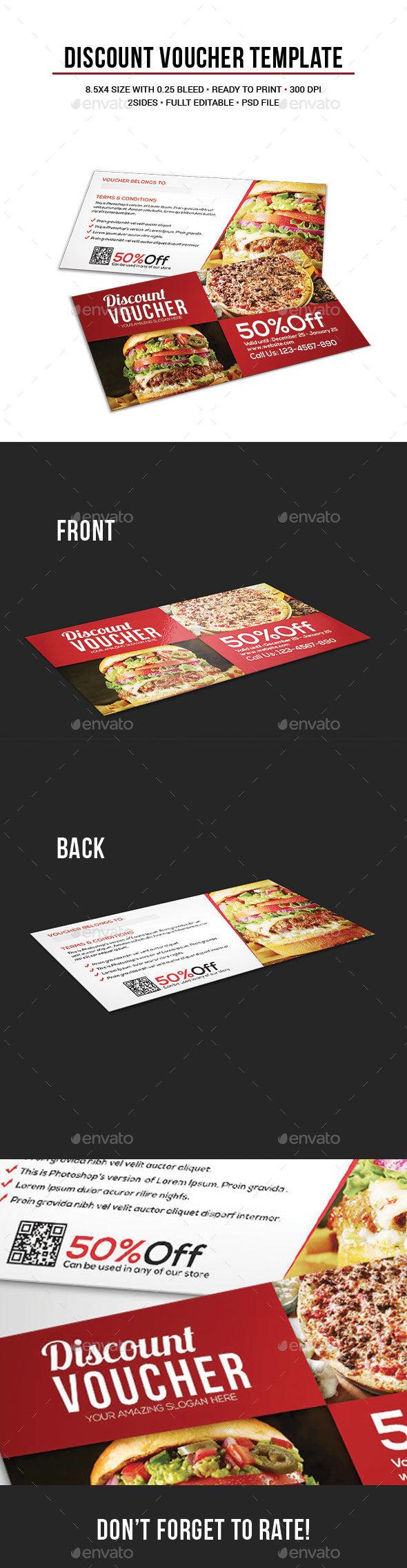 Discount Voucher Template - Cards & Invites Print Templates