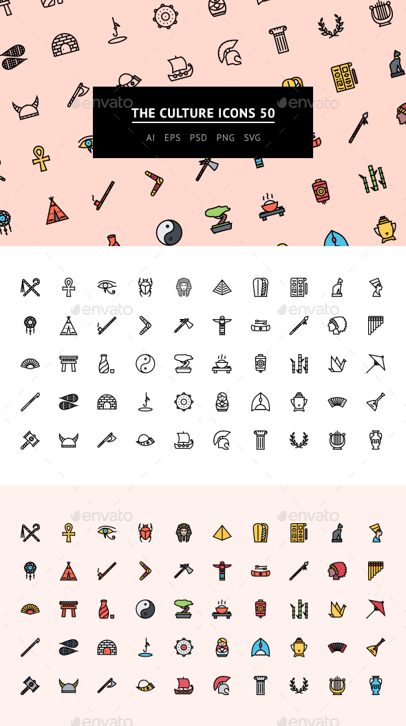 The Culture Icons 50 - Web Icons