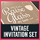 Vintage Invitation Set - GraphicRiver Item for Sale