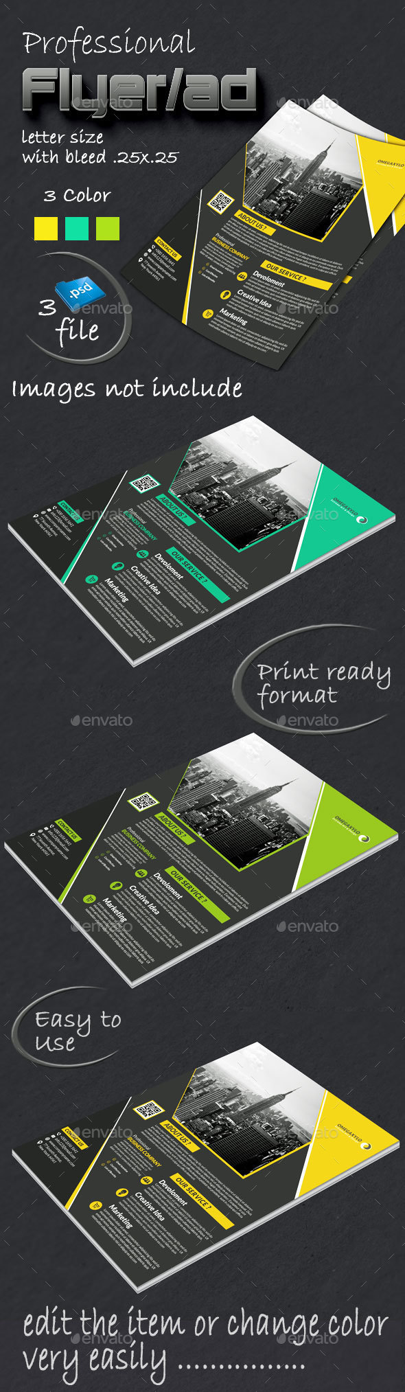 Business Flyer/Ad - Corporate Business Cards