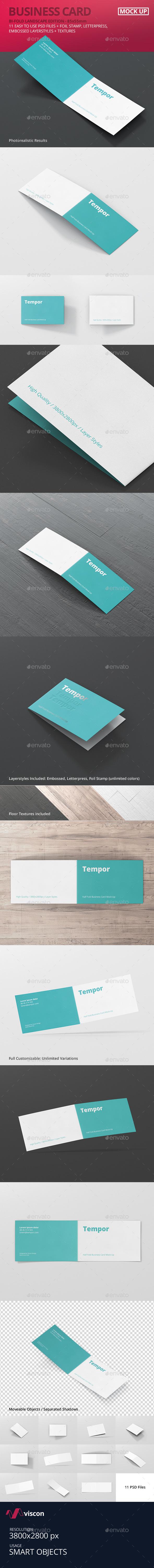 Folded Business Card Mockup - Business Cards Print