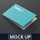 Folded Business Card Mockup - GraphicRiver Item for Sale