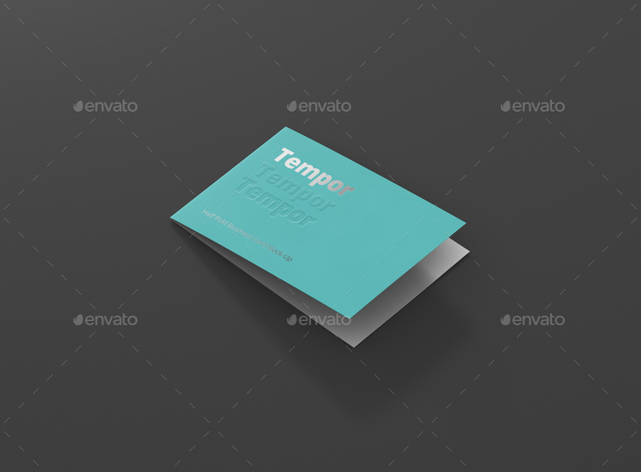 Folded business card mockup by visconbiz graphicriver folded business card mockup reheart Image collections