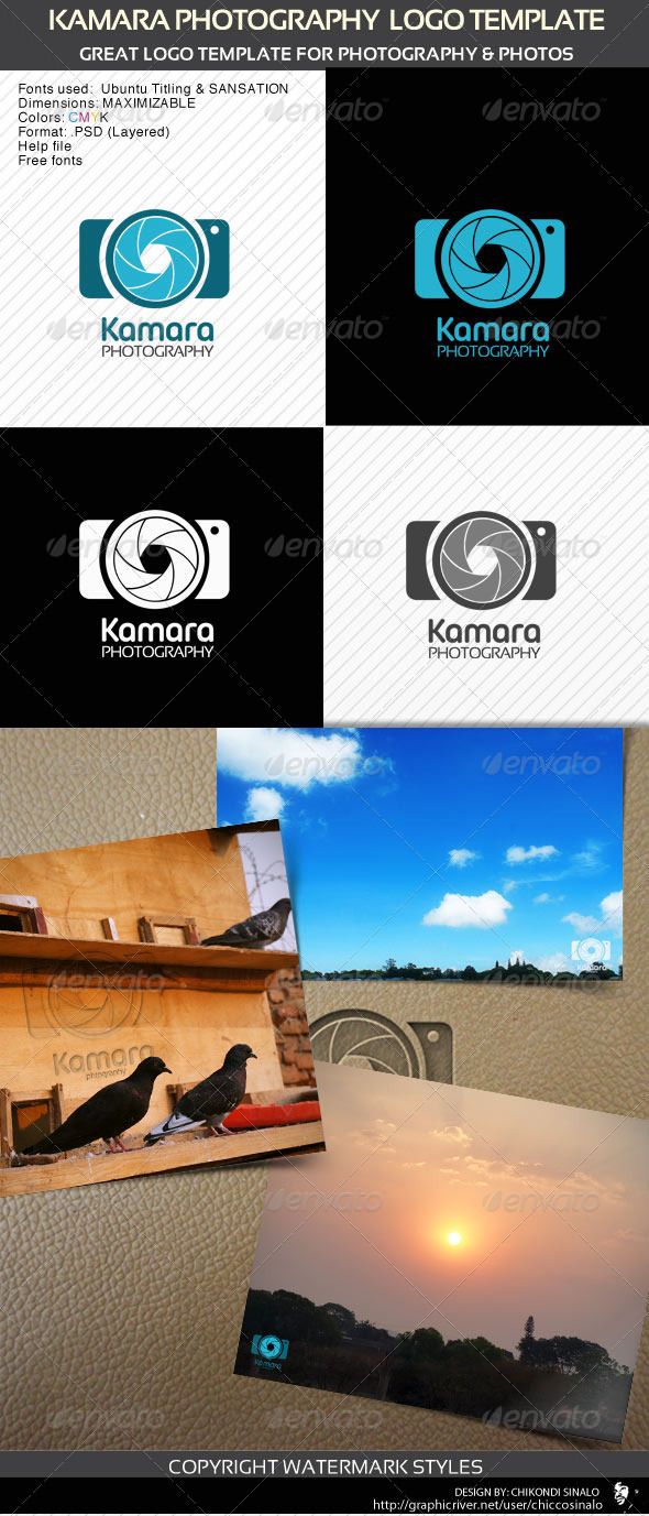 Kamara Photography Logo Template - Abstract Logo Templates