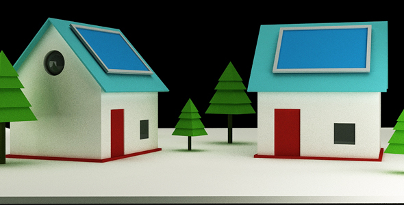 3d Home Model - 3DOcean Item for Sale
