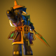 Low Poly Wizard Character Model