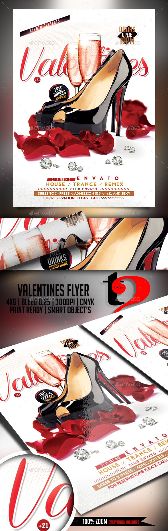 Valentines Party Template - Clubs & Parties Events