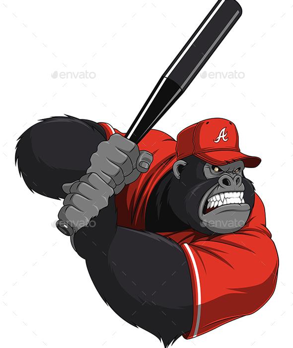 Monkey Ballplayer - Sports/Activity Conceptual
