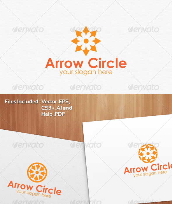 Arrow Circle Logo Template Design - Abstract Logo Templates