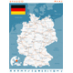 Germany Map and Navigation Labels with Roads - GraphicRiver Item for Sale