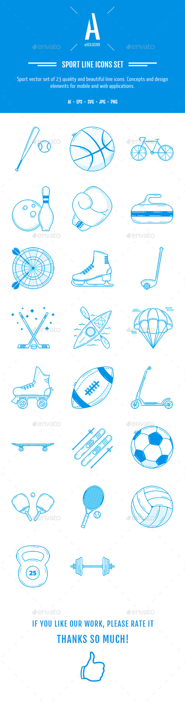 Sport Line Icons - Icons