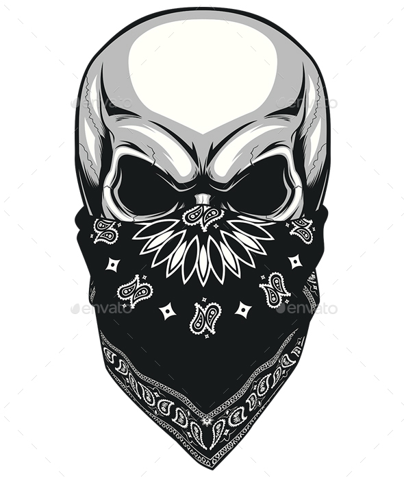 skull bandana by andrey1005 graphicriver rh graphicriver net bandana vector art bandana vector free download