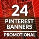 Pinterest & Instagram Banners - GraphicRiver Item for Sale
