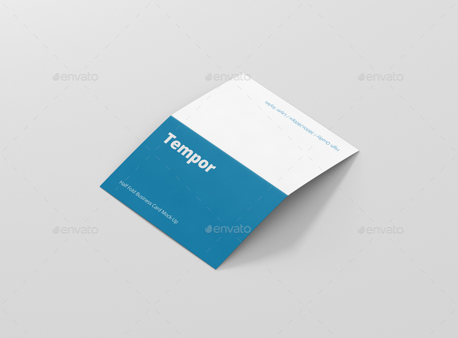 Folded Business Card Mockup Cards Print 01 Bifold Businesscard Open Side Jpg 02 Back