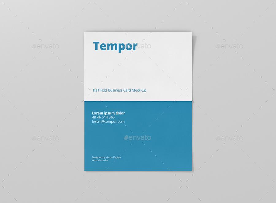 Folded business card mockup by visconbiz graphicriver folded business card mockup cheaphphosting Gallery