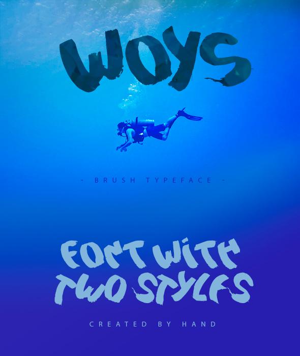 Woys Brush Typeface - Handwriting Fonts