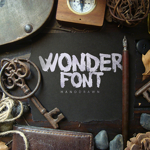 Woderfont Brush Typeface - Handwriting Fonts