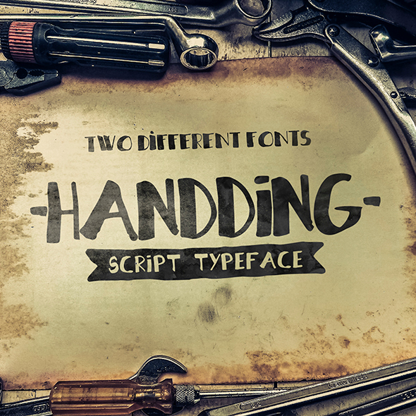 Handding Script | 2 Different Fonts - Handwriting Fonts