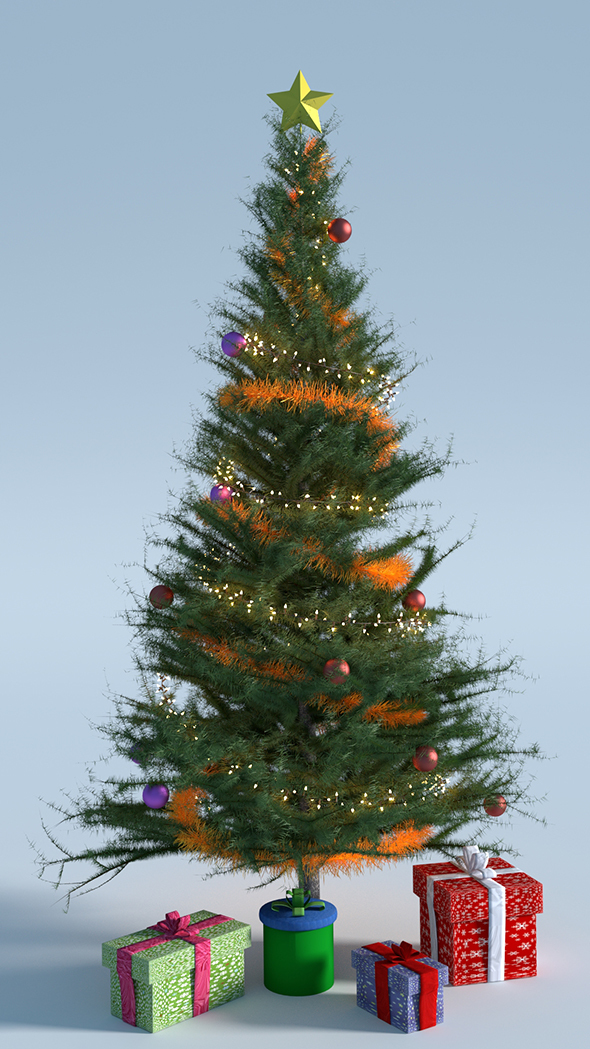 Christmas Tree with Presents - 3DOcean Item for Sale