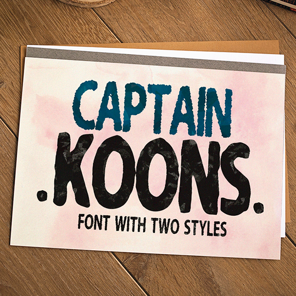 My name is Captain Koons - Handwriting Fonts