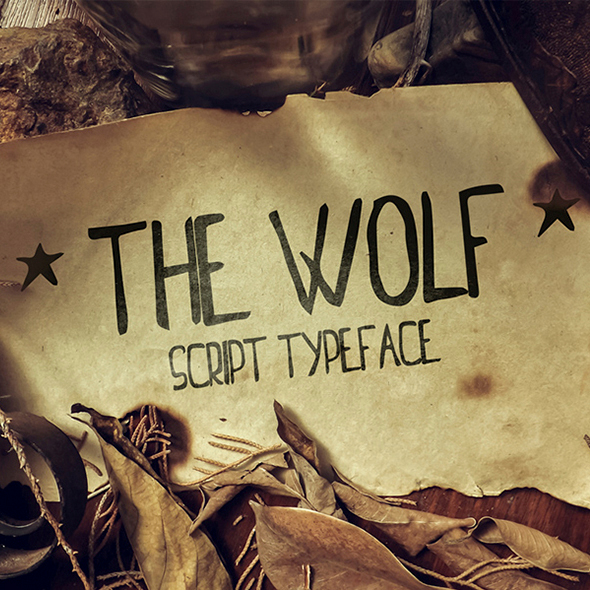 The Wolf Script Typeface - Handwriting Fonts