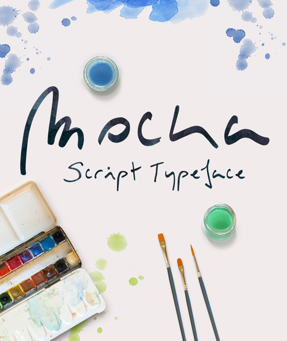 Mocka Typeface - Hand-writing Script