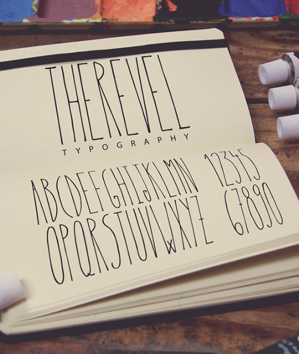 Therevel Family Typeface - Hand-writing Script