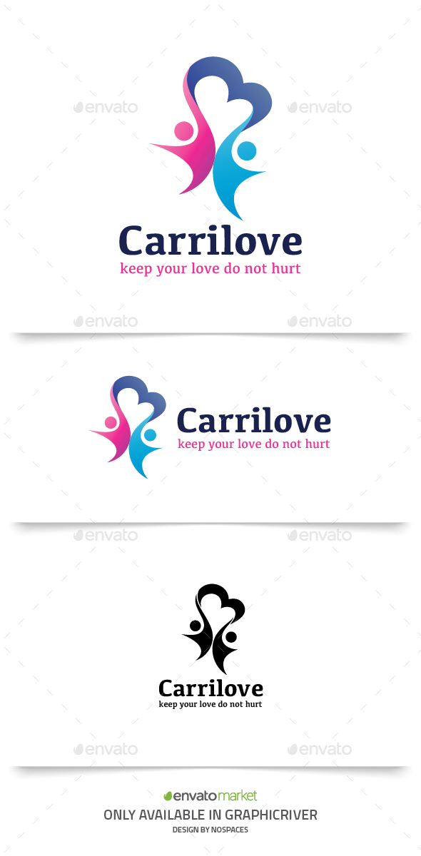 People Care Love - Humans Logo Templates