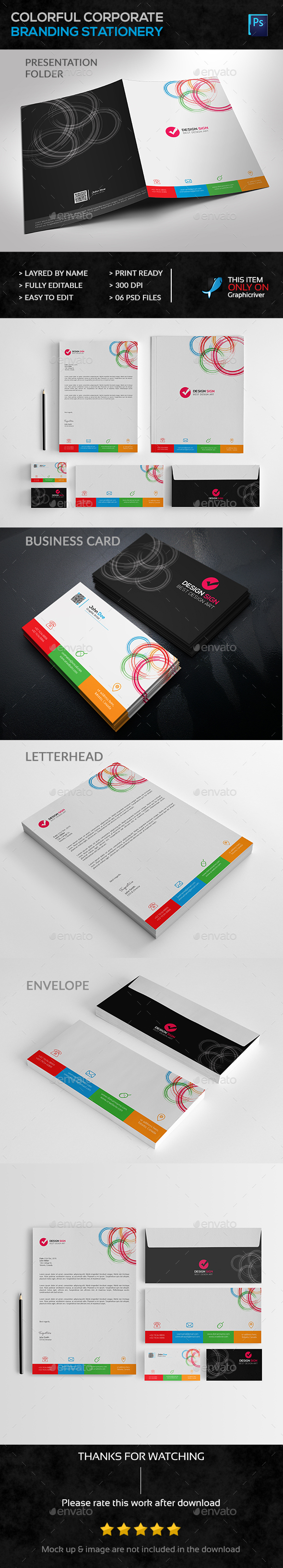 Corporate Branding Stationery - Stationery Print Templates