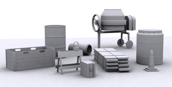 Industrial Props Mdeling 1 - 3DOcean Item for Sale
