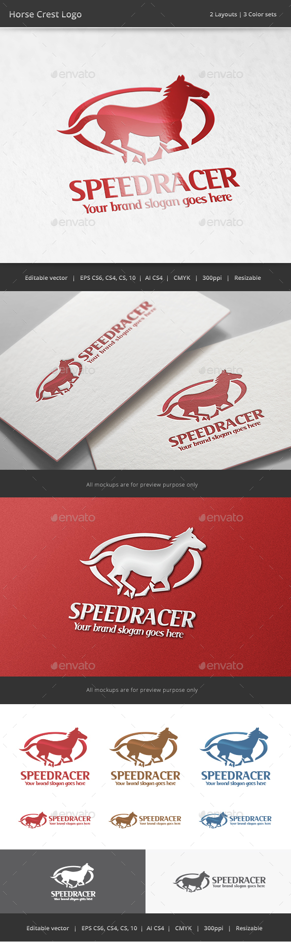 Horse Crest Logo - Animals Logo Templates