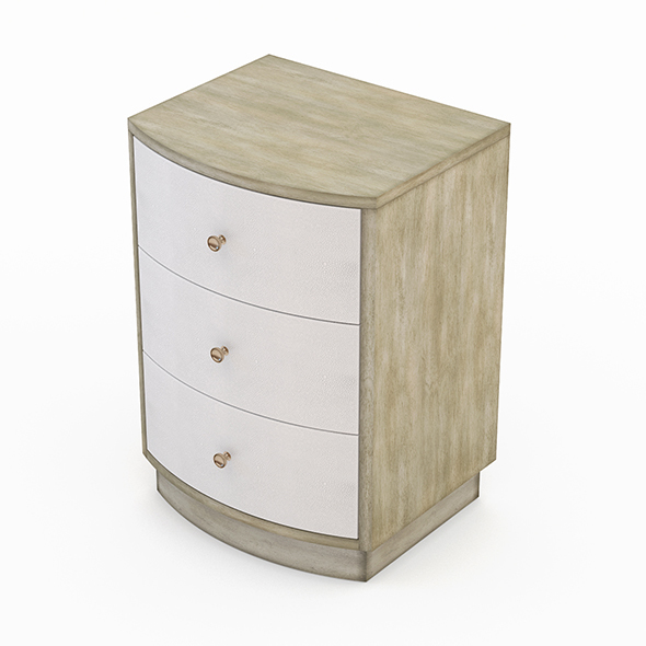 Currey and company Finn Night Stand - 3DOcean Item for Sale