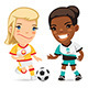 Set for Womens Soccer Project - GraphicRiver Item for Sale