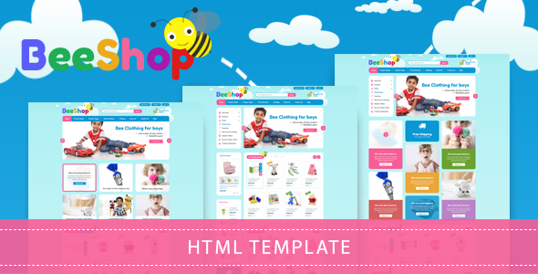 Bee Shop – Kids Shopping Bootstrap Template