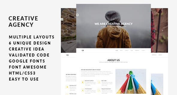 Creative Agency | Multi-Concept HTML5 Template